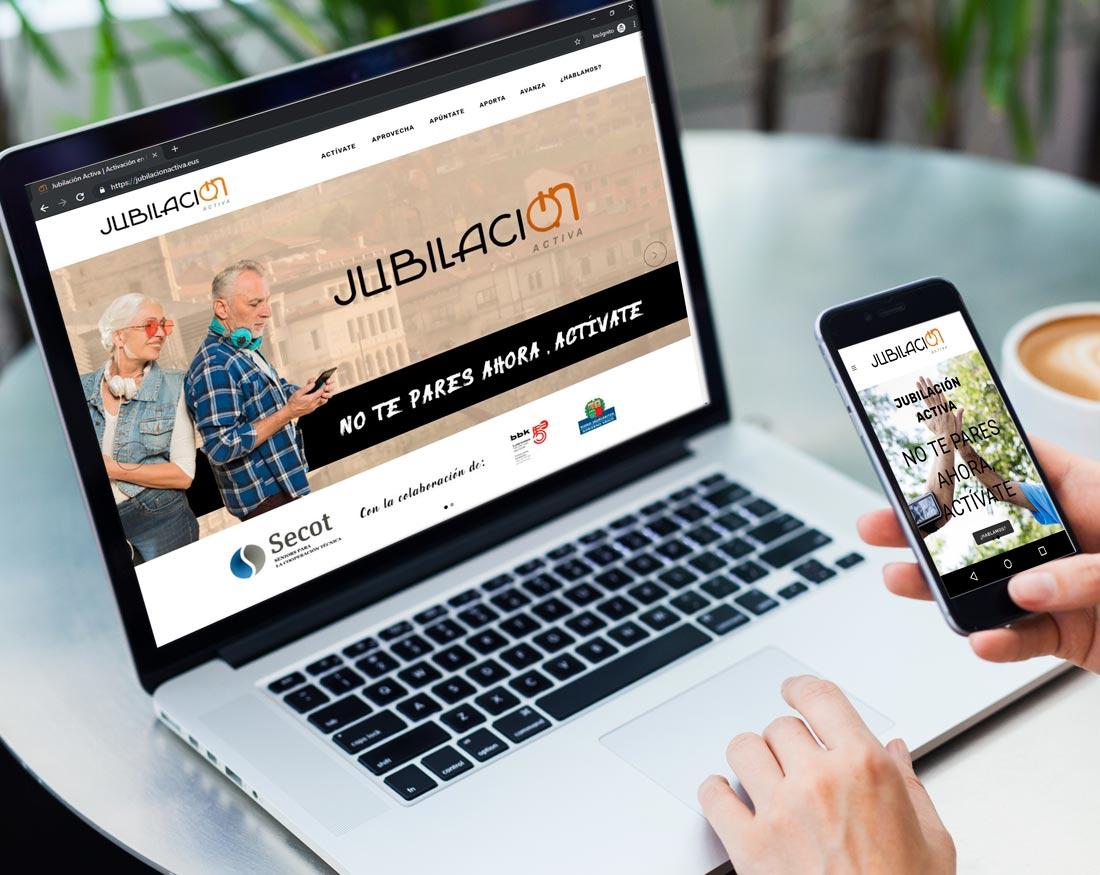 Diseño Página web Jubilación Activa